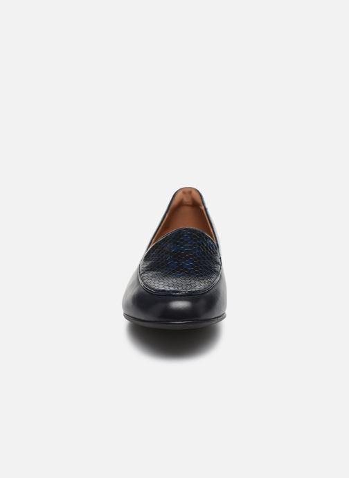 Mocassins Clarks Unstructured Un Blush Ease Bleu vue portées chaussures
