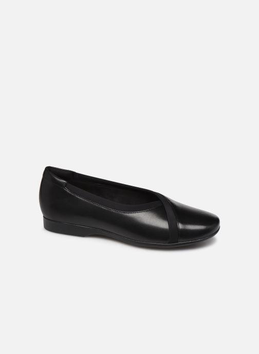 Ballerinaer Clarks Unstructured Un Darcey Ease Sort detaljeret billede af skoene