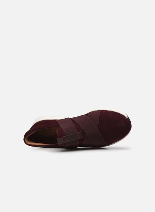 Sneaker Clarks Unstructured Un Rio Strap weinrot ansicht von hinten