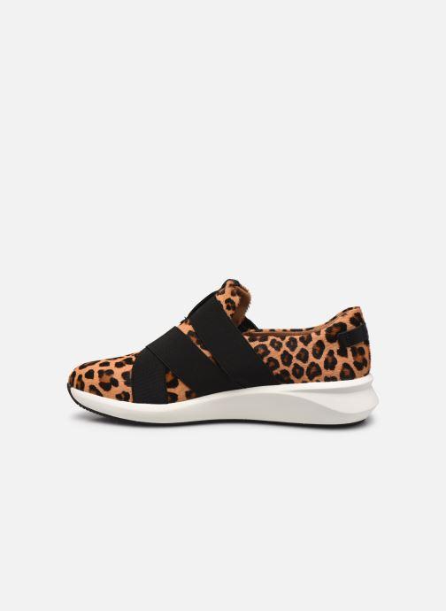 Sneaker Clarks Unstructured Un Rio Strap braun ansicht von vorne