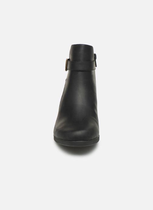 Bottines et boots Clarks Unstructured Un Lindel Lo Noir vue portées chaussures
