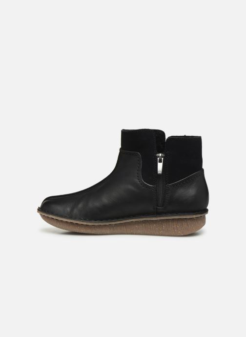 Bottines et boots Clarks Unstructured Funny Mid Noir vue face