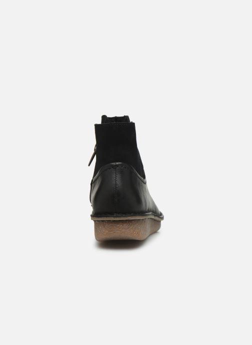 Bottines et boots Clarks Unstructured Funny Mid Noir vue droite