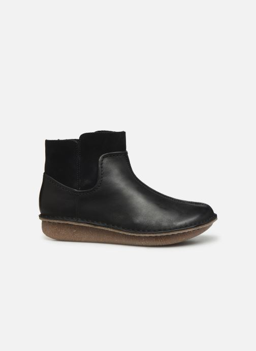 Botines  Clarks Unstructured Funny Mid Negro vistra trasera