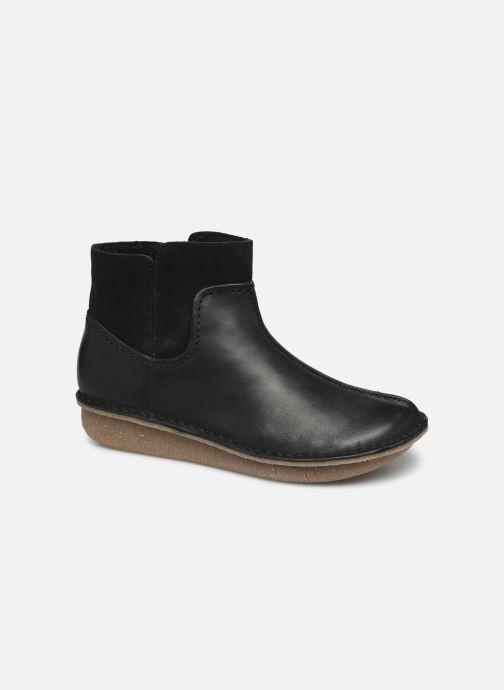 Bottines et boots Clarks Unstructured Funny Mid Noir vue détail/paire