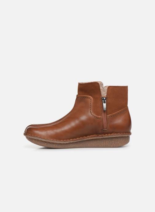 Stiefeletten & Boots Clarks Unstructured Funny Mid braun ansicht von vorne