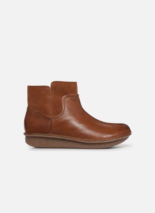 Boots en enkellaarsjes Clarks Unstructured Funny Mid Bruin achterkant