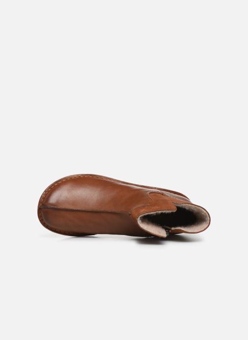 Bottines et boots Clarks Unstructured Funny Mid Marron vue gauche