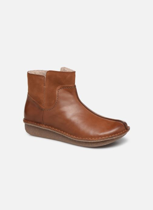 Bottines et boots Clarks Unstructured Funny Mid Marron vue détail/paire