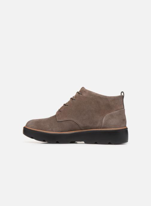 Boots en enkellaarsjes Clarks Unstructured Un Balsa Mid Bruin voorkant