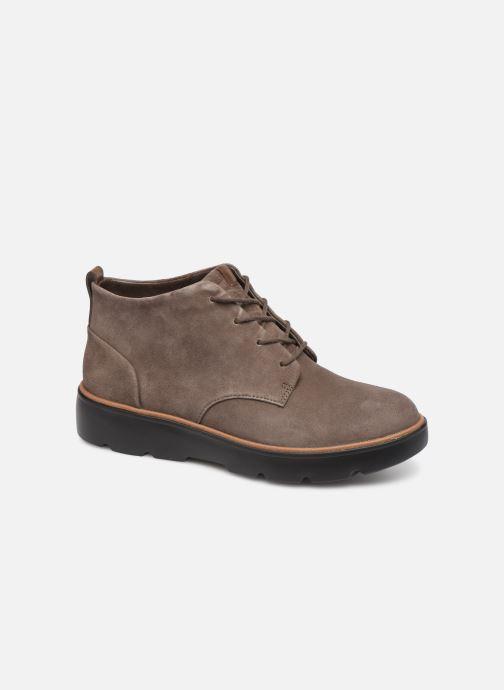 Bottines et boots Clarks Unstructured Un Balsa Mid Marron vue détail/paire