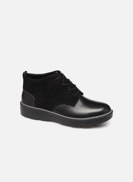 Bottines et boots Clarks Unstructured Un Balsa Mid Noir vue détail/paire