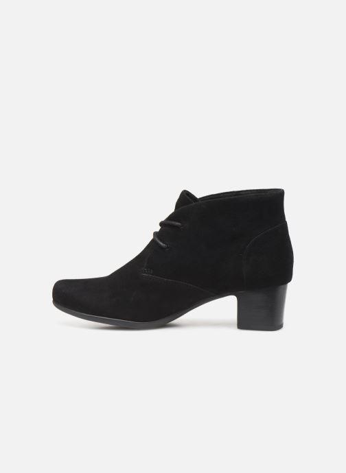 Bottines et boots Clarks Unstructured Un Damson Tie Noir vue face