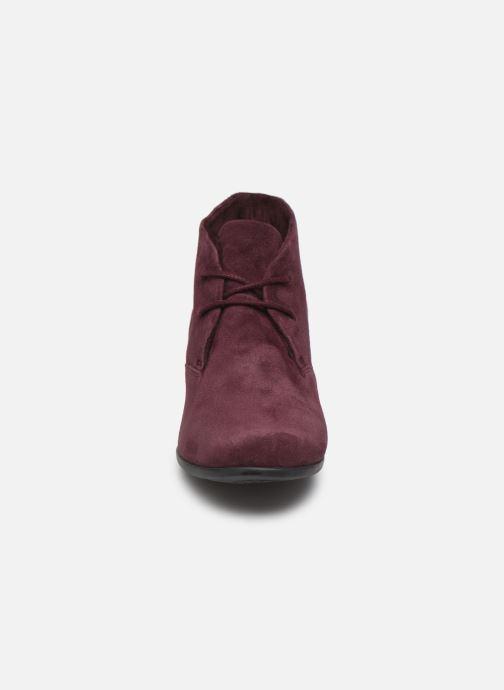 Bottines et boots Clarks Unstructured Un Damson Tie Bordeaux vue portées chaussures