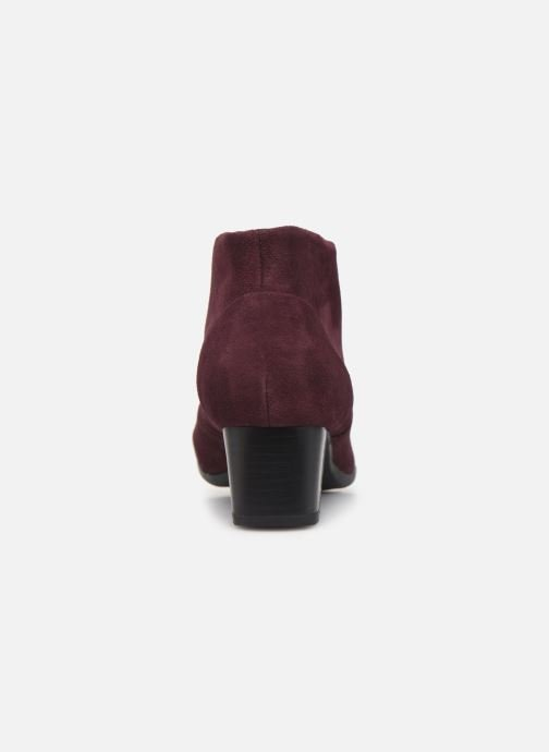Ankle boots Clarks Unstructured Un Damson Tie Burgundy view from the right