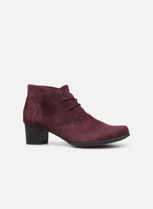 Bottines et boots Clarks Unstructured Un Damson Tie Bordeaux vue derrière