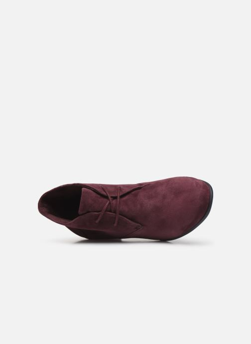 Ankle boots Clarks Unstructured Un Damson Tie Burgundy view from the left