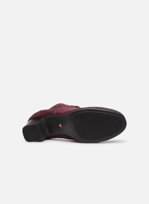 Ankle boots Clarks Unstructured Un Damson Tie Burgundy view from above