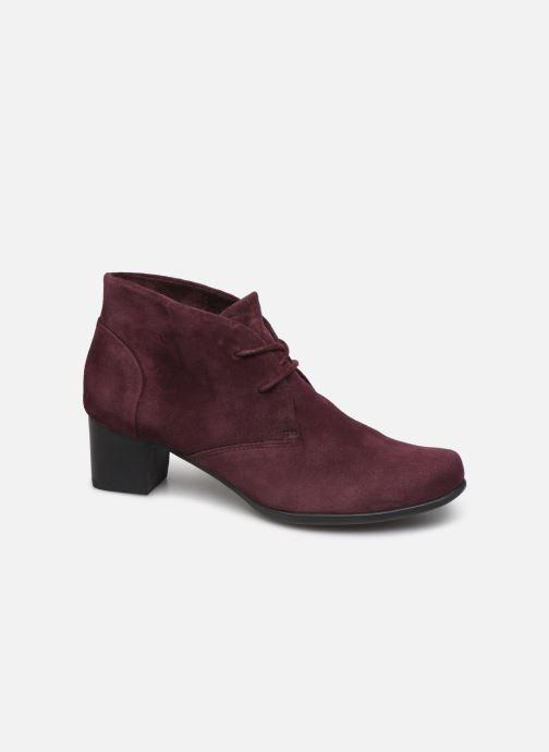 Bottines et boots Clarks Unstructured Un Damson Tie Bordeaux vue détail/paire
