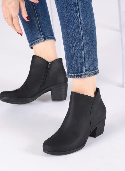 Bottines et boots Clarks Unstructured Un Lindel Zip Noir vue bas / vue portée sac