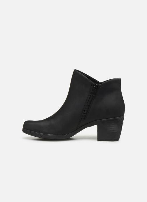 Boots en enkellaarsjes Clarks Unstructured Un Lindel Zip Zwart voorkant