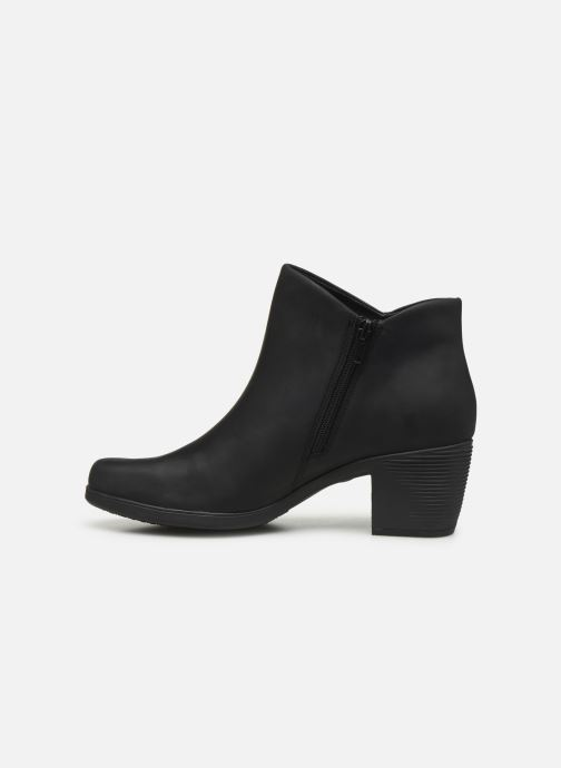 Bottines et boots Clarks Unstructured Un Lindel Zip Noir vue face