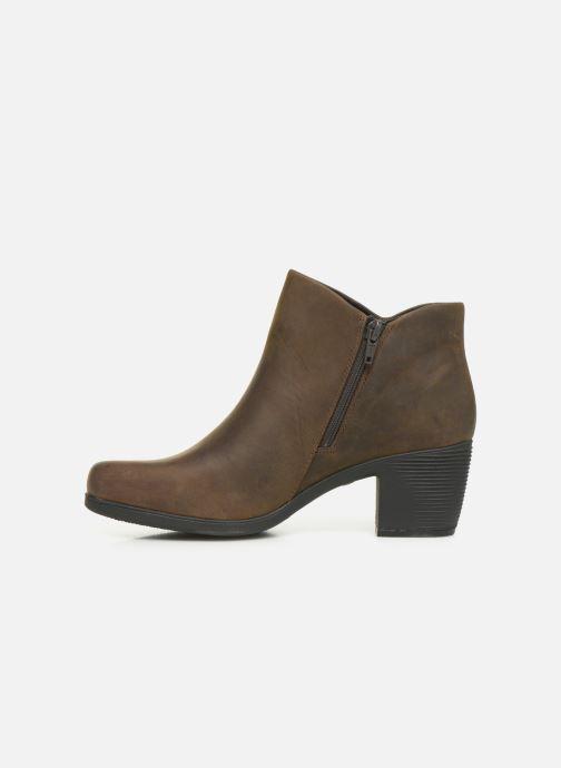 Boots en enkellaarsjes Clarks Unstructured Un Lindel Zip Bruin voorkant