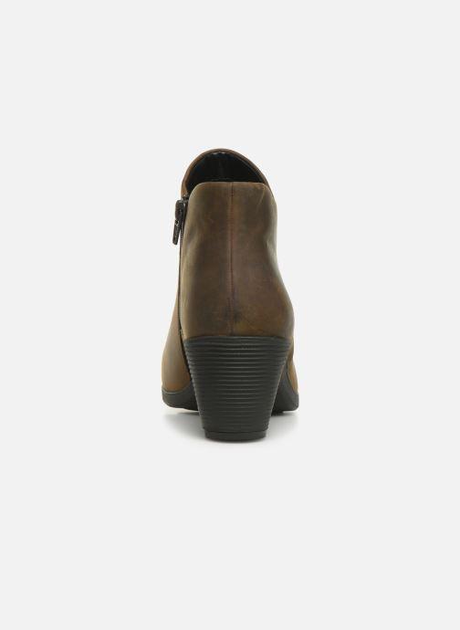 Boots en enkellaarsjes Clarks Unstructured Un Lindel Zip Bruin rechts