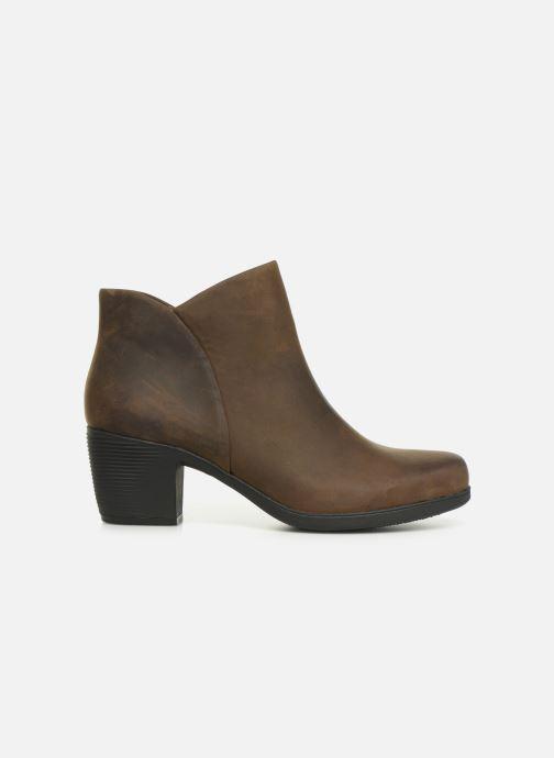 Boots en enkellaarsjes Clarks Unstructured Un Lindel Zip Bruin achterkant