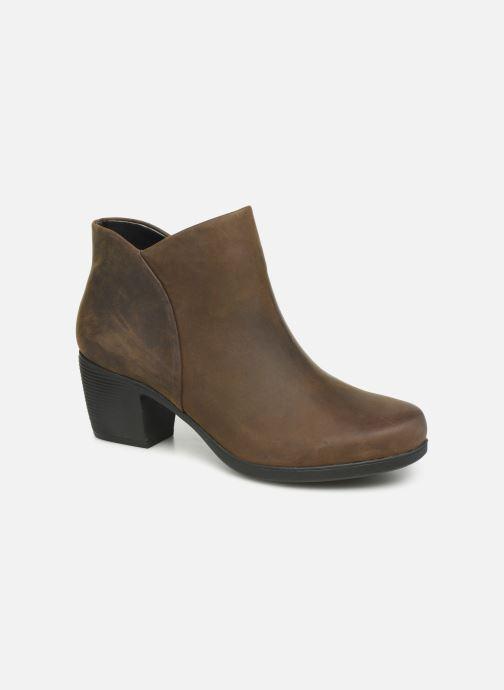 Ankelstøvler Clarks Unstructured Un Lindel Zip Brun detaljeret billede af skoene