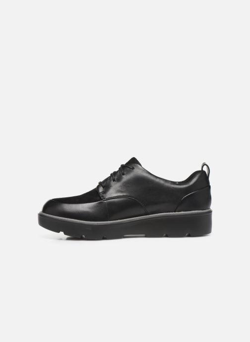 Zapatos con cordones Clarks Unstructured Un Balsa Lace Negro vista de frente