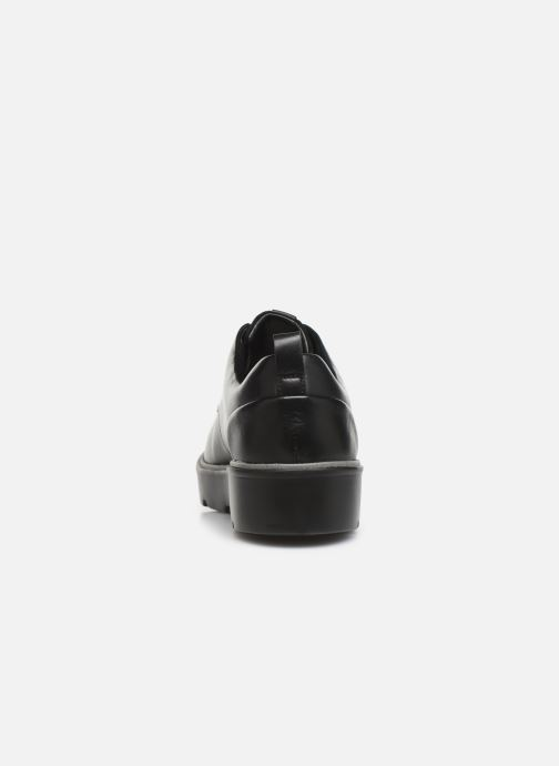 Zapatos con cordones Clarks Unstructured Un Balsa Lace Negro vista lateral derecha