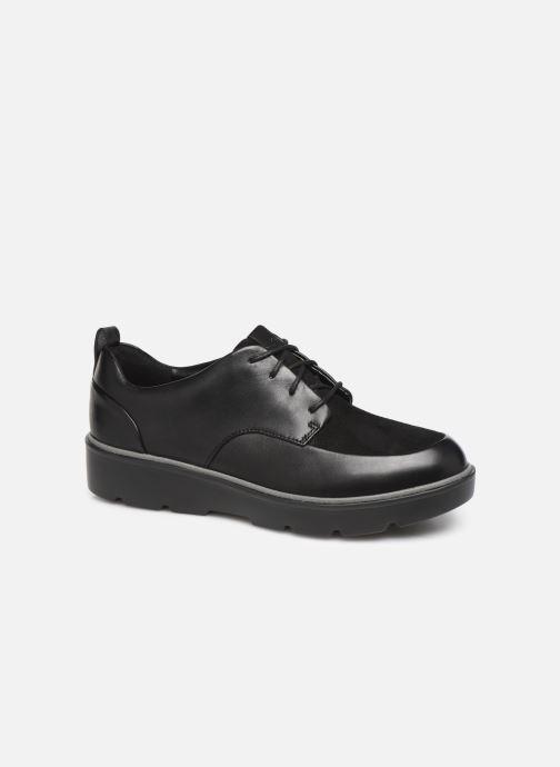 Zapatos con cordones Clarks Unstructured Un Balsa Lace Negro vista de detalle / par