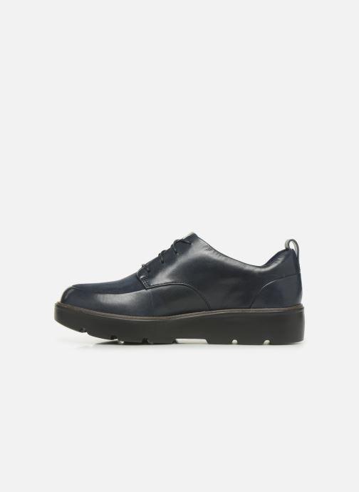 Zapatos con cordones Clarks Unstructured Un Balsa Lace Azul vista de frente