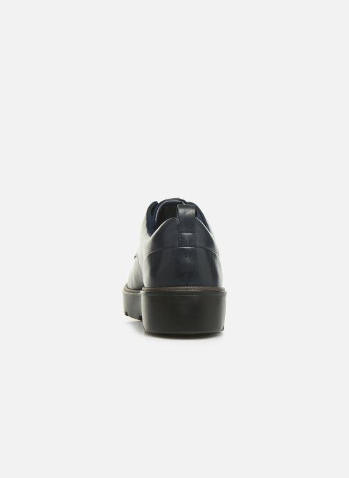 Zapatos con cordones Clarks Unstructured Un Balsa Lace Azul vista lateral derecha