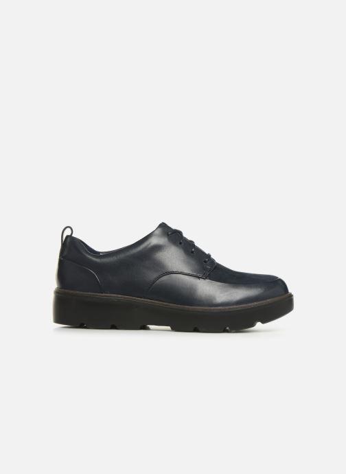 Chaussures à lacets Clarks Unstructured Un Balsa Lace Bleu vue derrière
