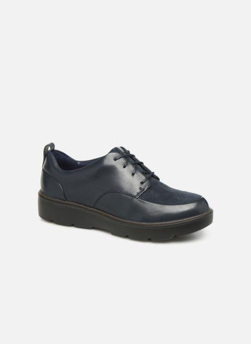 Zapatos con cordones Clarks Unstructured Un Balsa Lace Azul vista de detalle / par