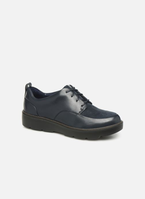 Lace-up shoes Clarks Unstructured Un Balsa Lace Blue detailed view/ Pair view