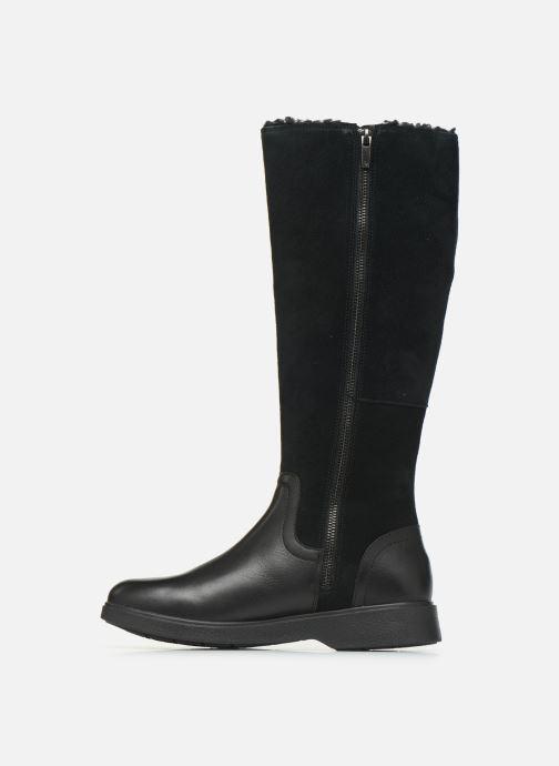 Stiefel Clarks Unstructured Un Elda Hi schwarz ansicht von vorne