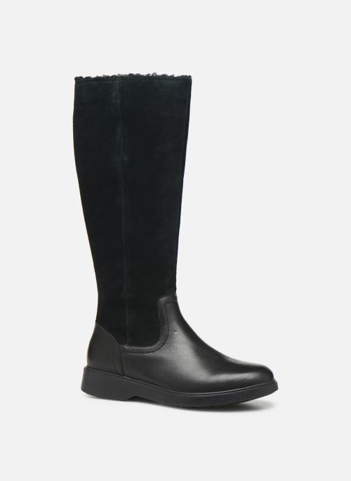 Stiefel Clarks Unstructured Un Elda Hi schwarz detaillierte ansicht/modell