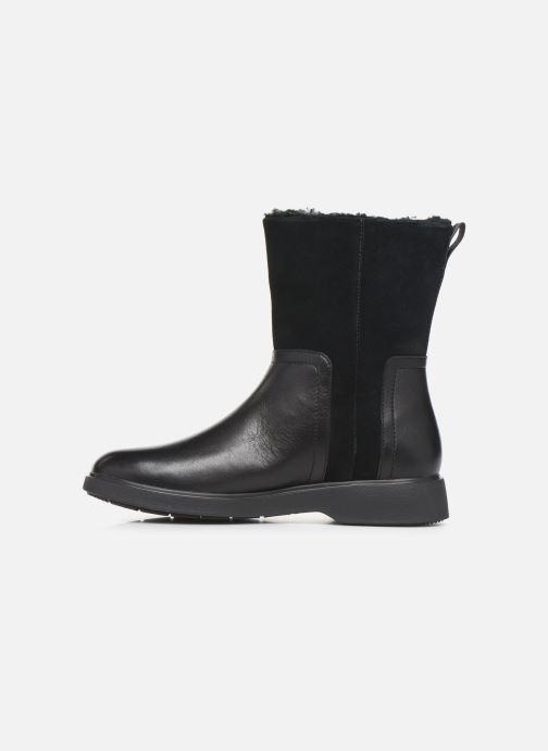 Boots en enkellaarsjes Clarks Unstructured Un Elda Mid Zwart voorkant