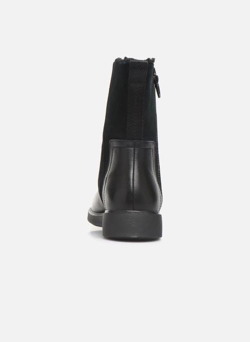 Bottines et boots Clarks Unstructured Un Elda Mid Noir vue droite