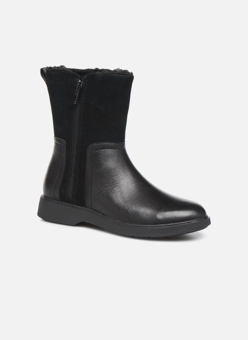 Bottines et boots Clarks Unstructured Un Elda Mid Noir vue détail/paire