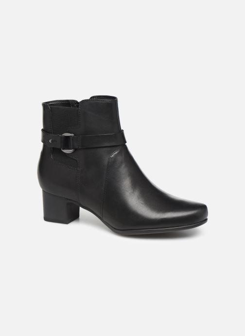 Bottines et boots Clarks Unstructured Un Damson Mid Noir vue détail/paire
