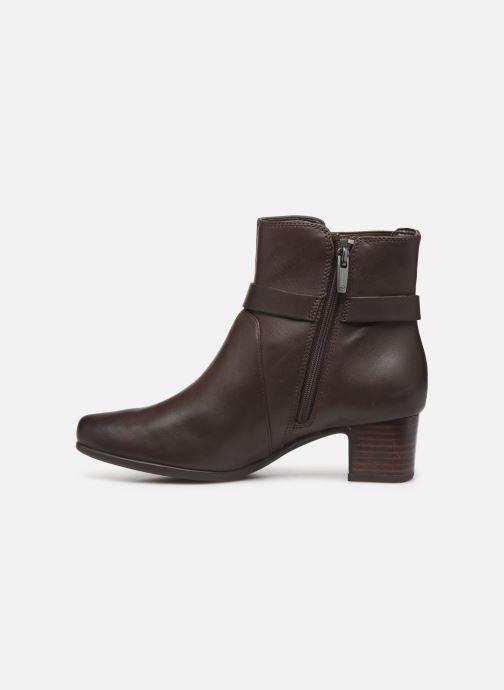 Bottines et boots Clarks Unstructured Un Damson Mid Marron vue face