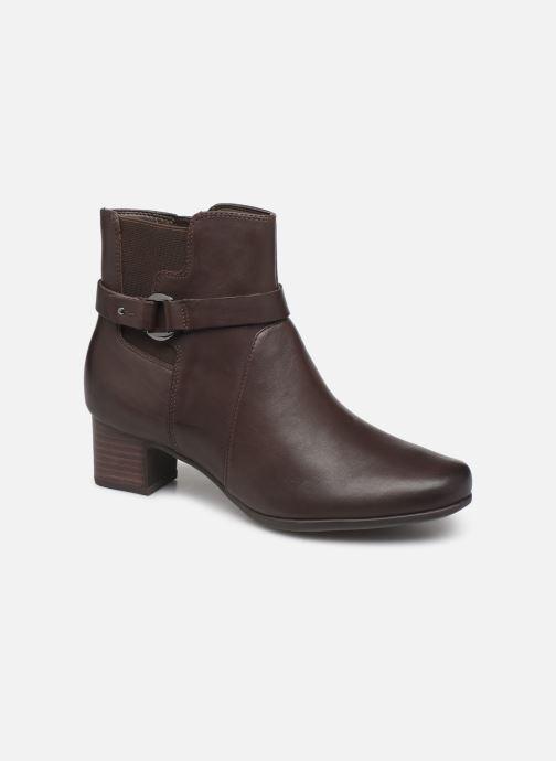 Bottines et boots Clarks Unstructured Un Damson Mid Marron vue détail/paire