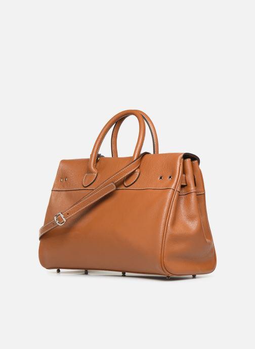 Handtaschen Mac Douglas PYLA-BUNI S braun ansicht von rechts