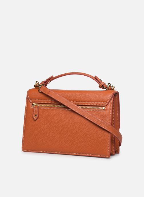 Handbags Mac Douglas JOYAU-ROMY M Orange view from the right