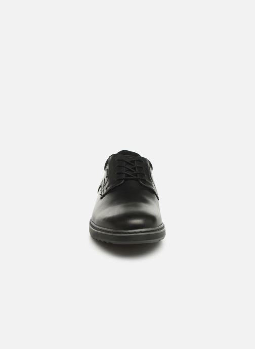 Schnürschuhe Clarks Unstructured Un Geo LaceGTX schwarz schuhe getragen