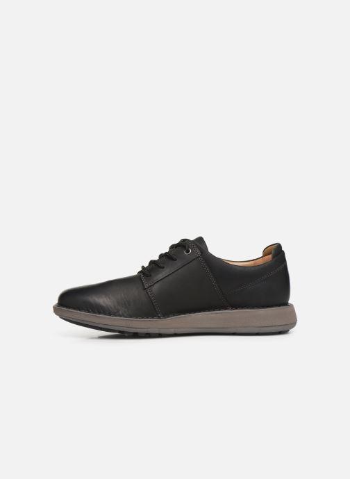 Sneakers Clarks Unstructured Un Larvik Lace Zwart voorkant